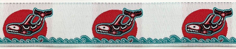 7/8 Woven Trim Haida Orca