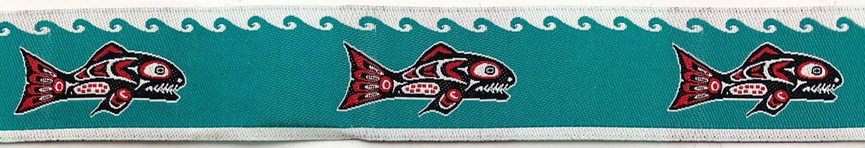 7/8 Woven Trim Haida Salmon