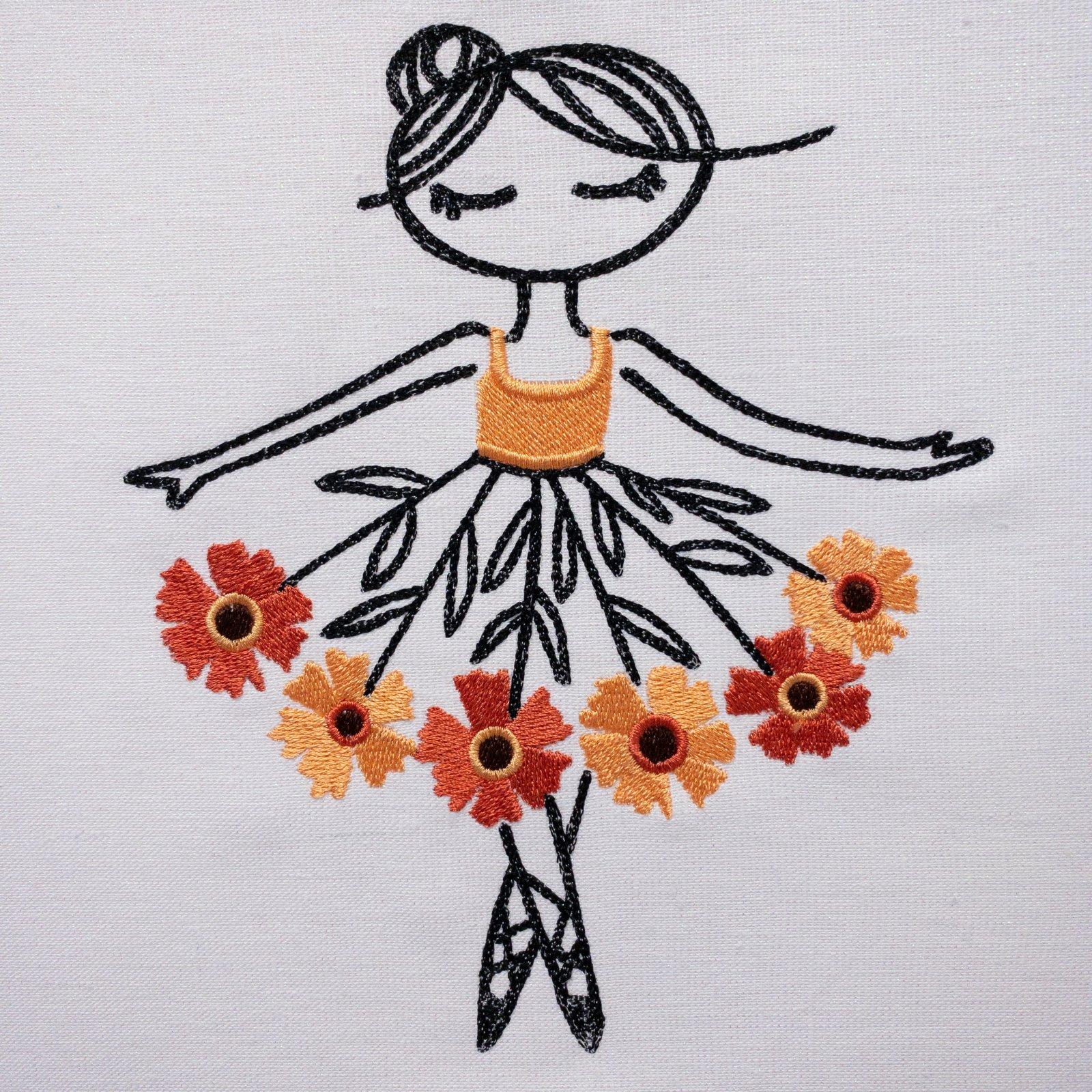 Helenium Ballerina Embroidered Panel