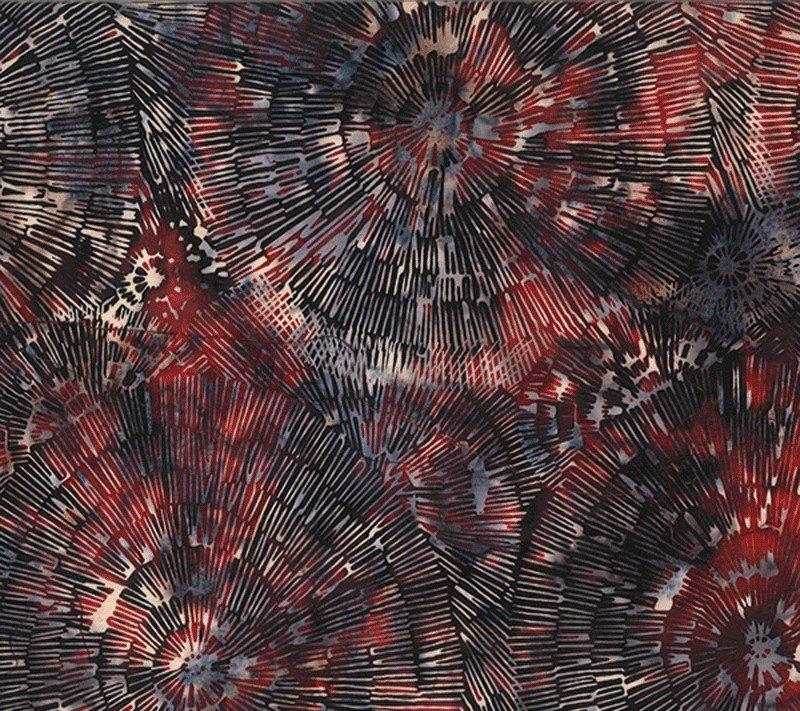 Bali Batiks Bark Texture Q2130-209 Patriotic