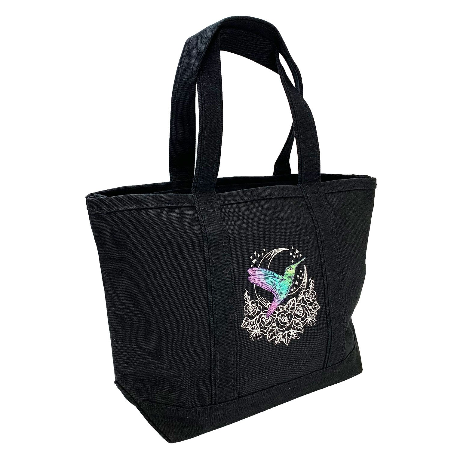 Embroidered Canvas Tote Hummingbird