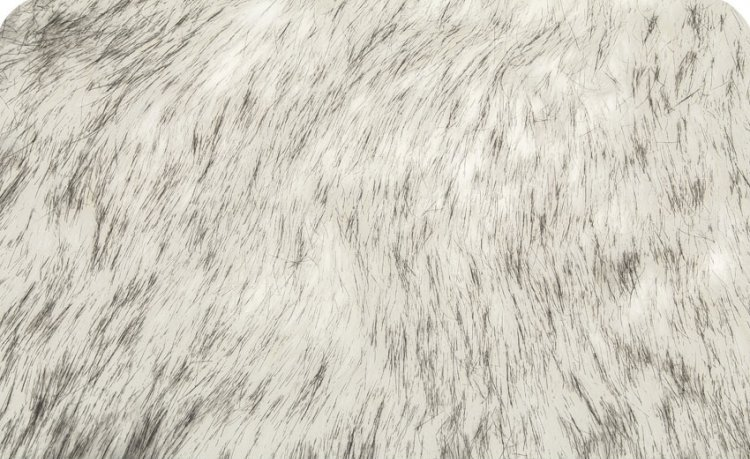 Husky Faux Fur 58/60 Black/White