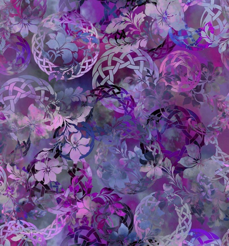 Diaphanous Celtic Garden 3ENC3 Amethyst