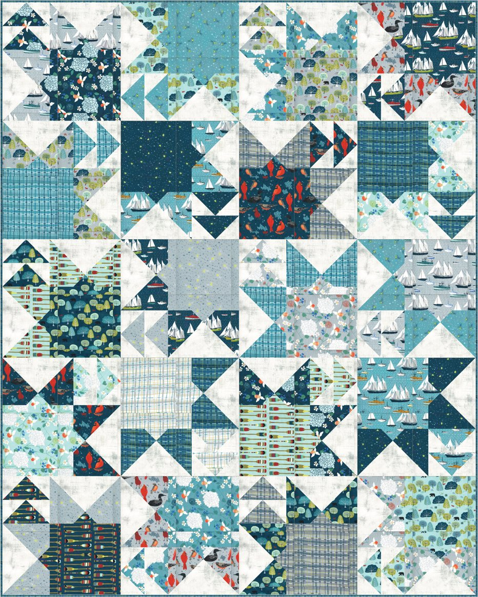 Crown And Anchor Lakeside Quilt Kit