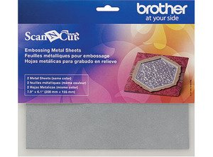 Brother Scan N Cut Embossing Metal Silver Sheets