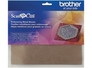Brother Scan N Cut Embossing Metal Brass Sheets