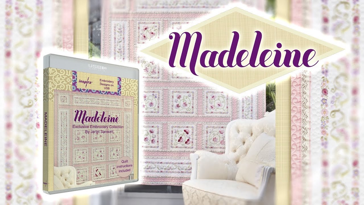 Madeleine Exclusive Embroidery Collection by Janet Sansom