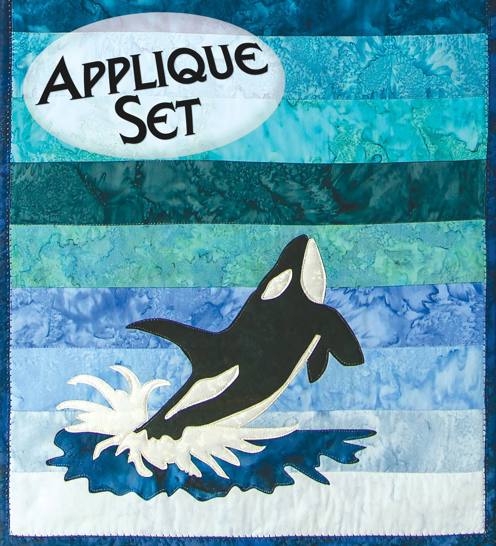 Mini Orca Laser Cut Applique Set