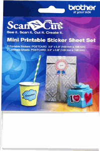 Brother Scan N Cut Mini Printable Sticker Sheet Set