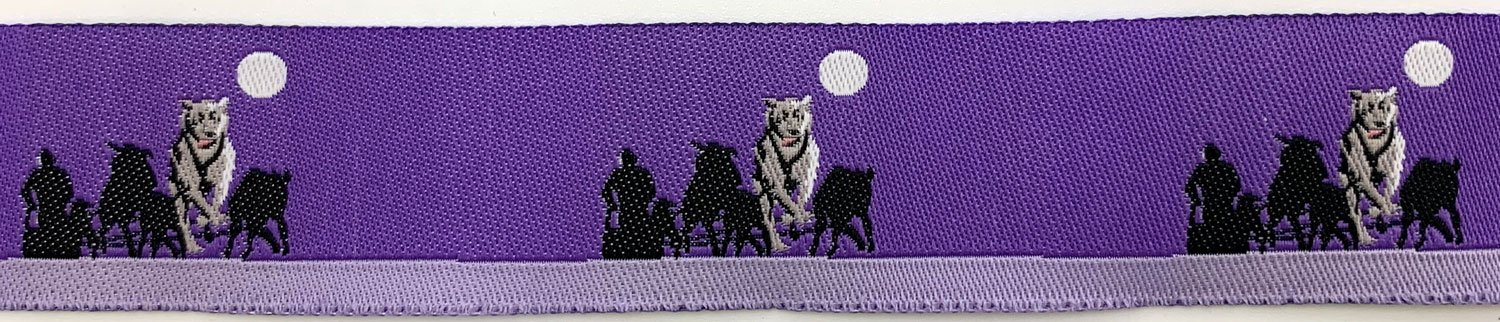 7/8 Woven Trim Moon Dogs