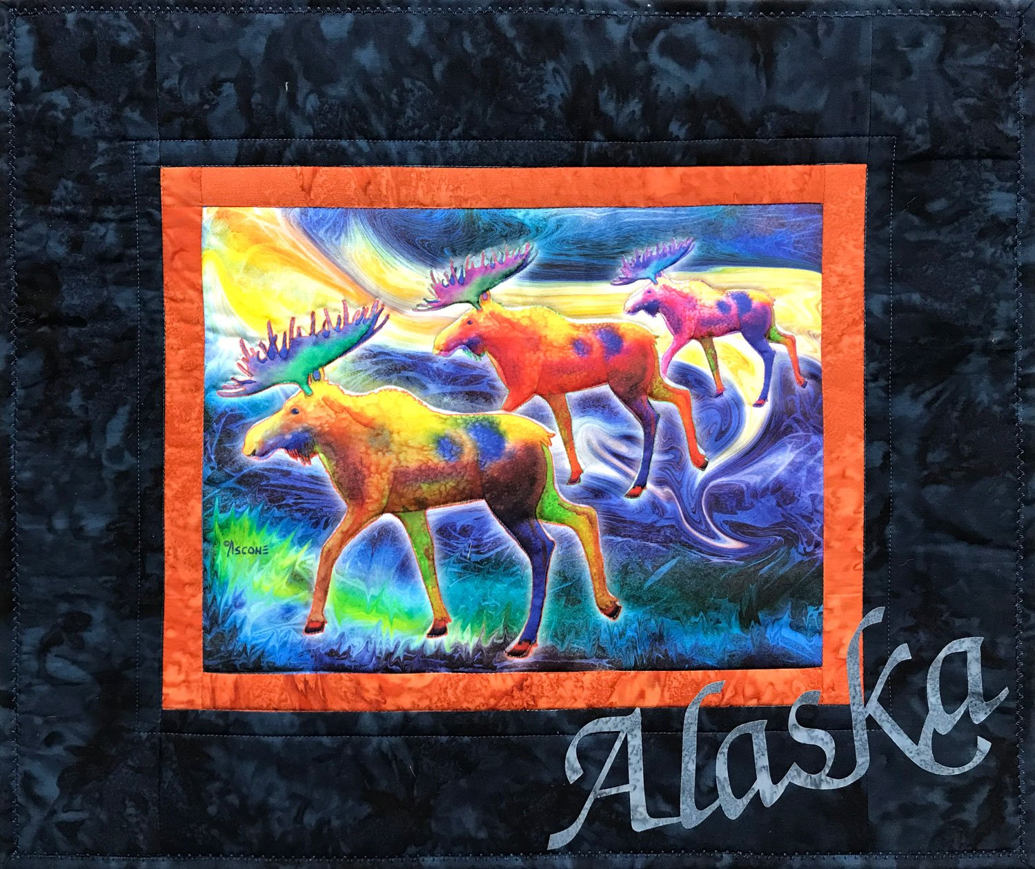 Moose Mystique Fabric Art Quilt Kit