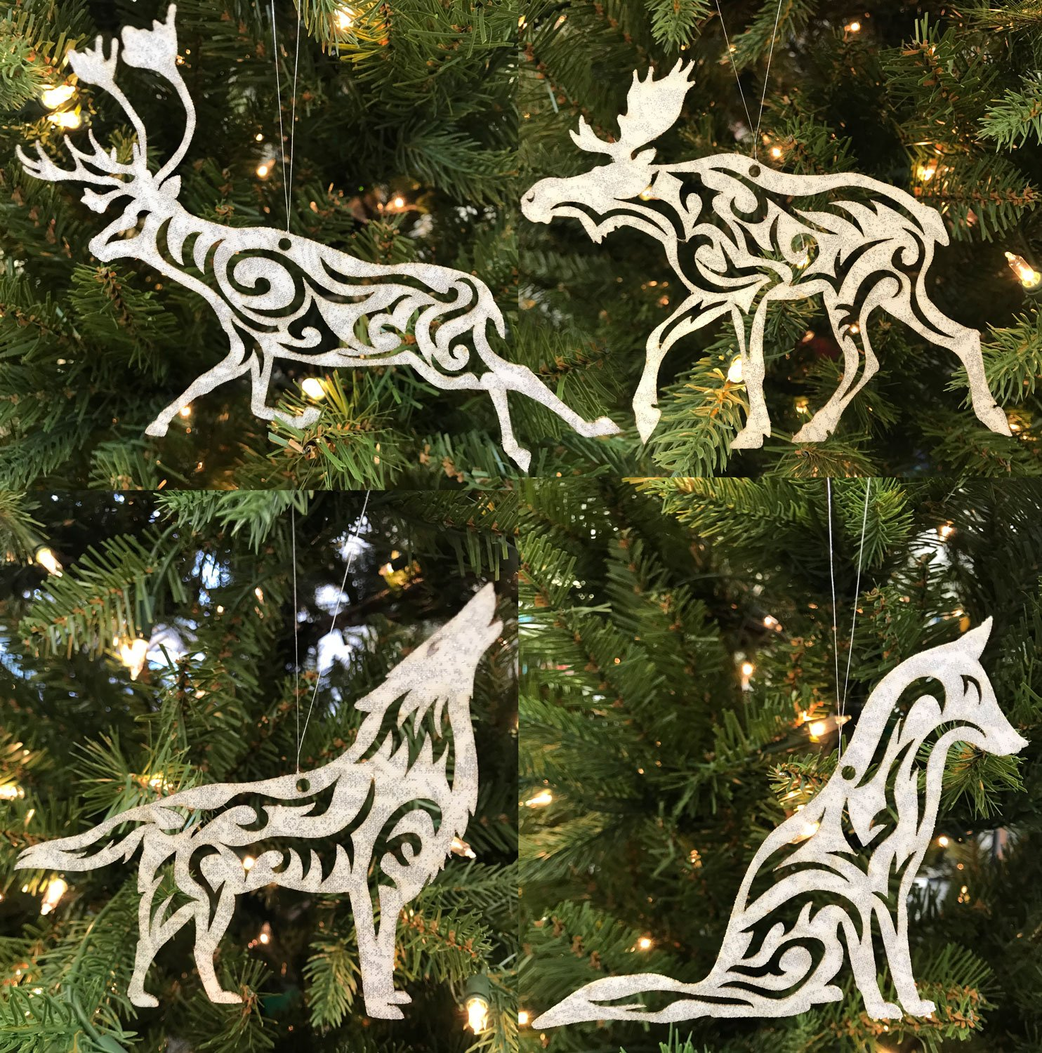 Arctic Holiday Ornament Set Moose