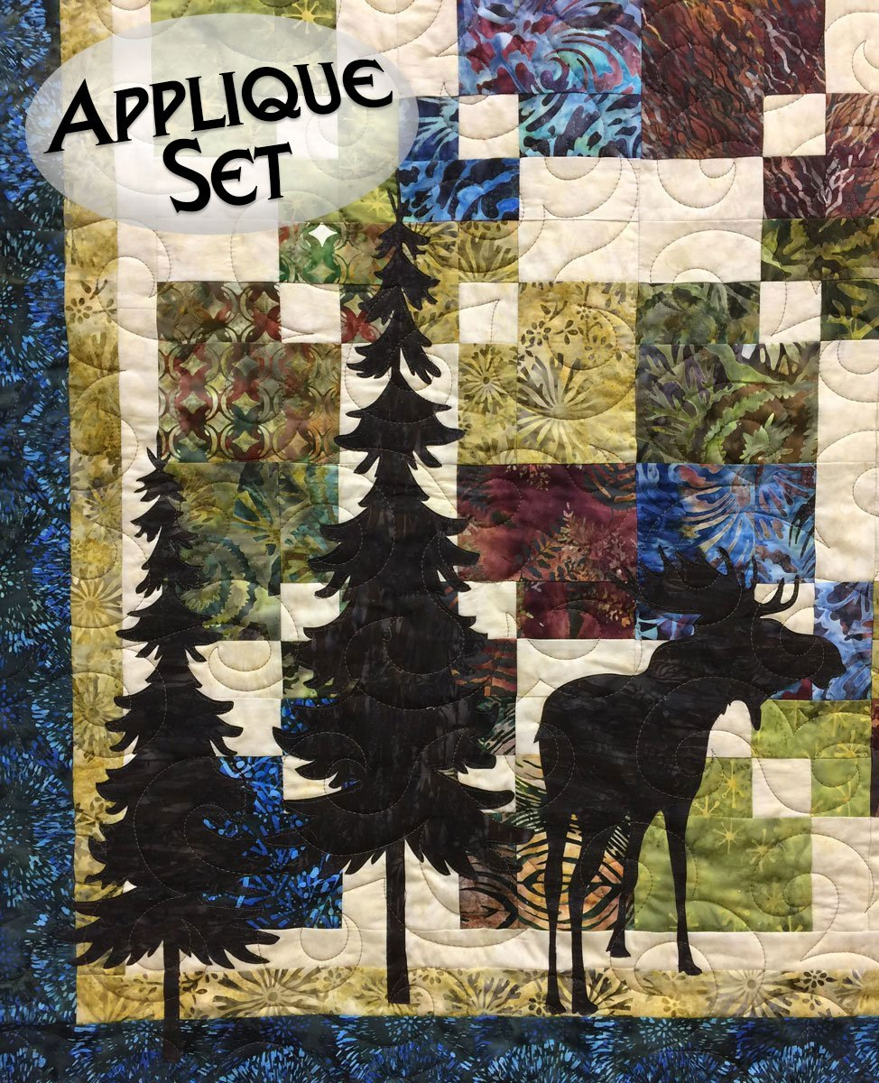 Moose & Trees Laser Cut Applique Set