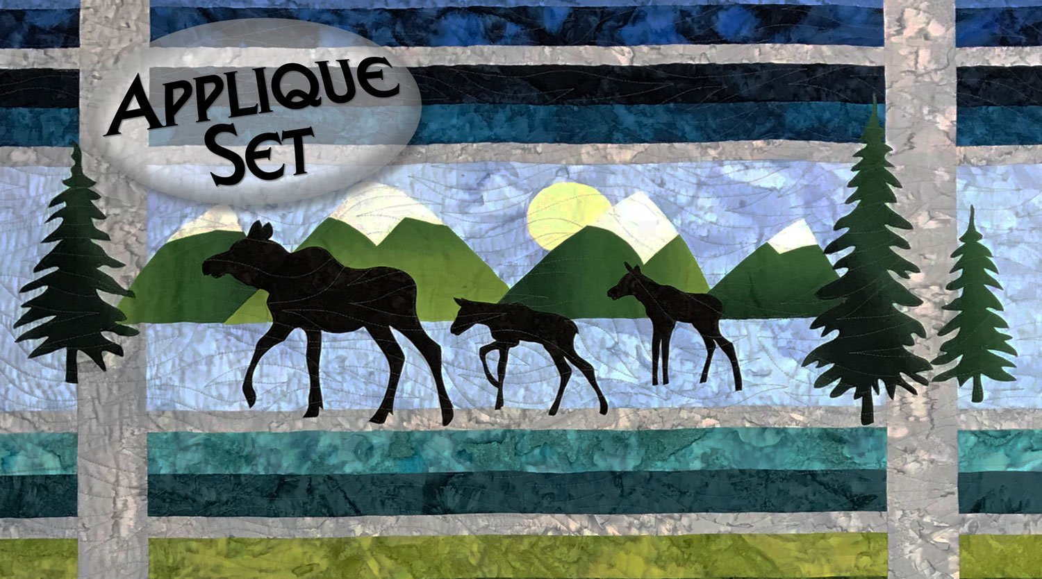 Moose Trio Laser Cut Applique Set