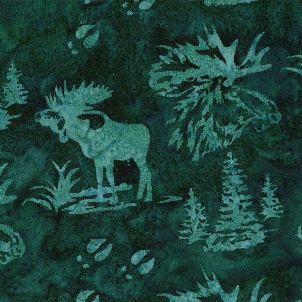 Moose and Prints N2911-309 Viridian