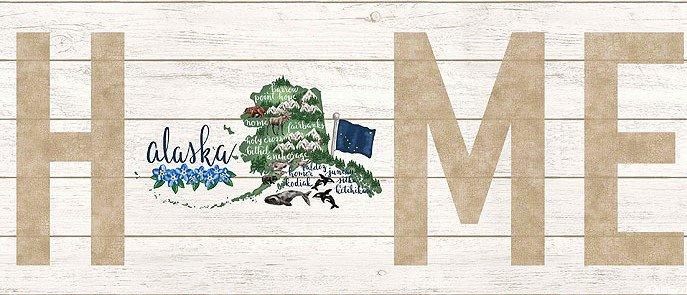 My Home State Alaska DP23131-10 Panel