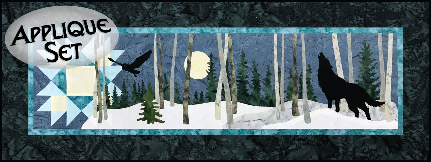 Night Watch Row Pre-Cut Laser Applique Set