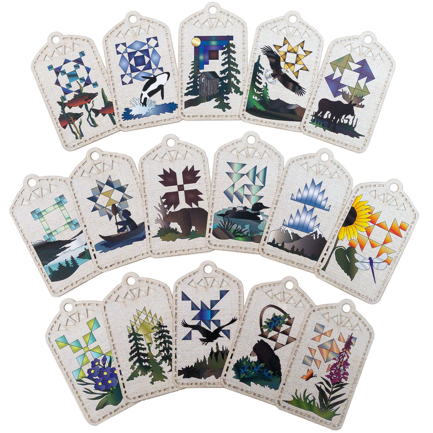 Northern Wilderness Gift Tag Set