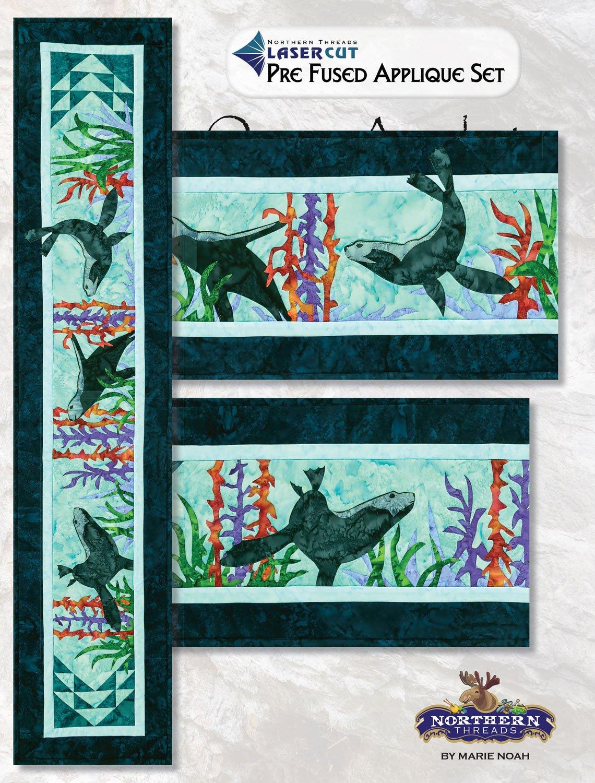 Ocean Acrobats Applique Set