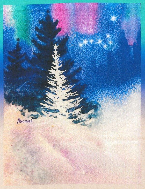 O Holy Night Fabric Panel by Teresa Ascone