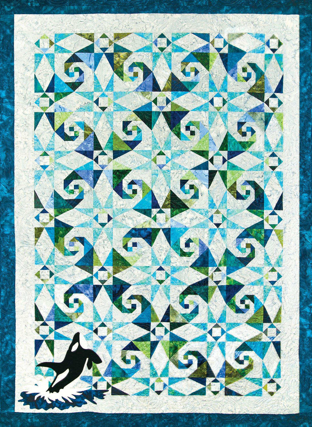 Orca at Sea Laser Cut Quilt Kit