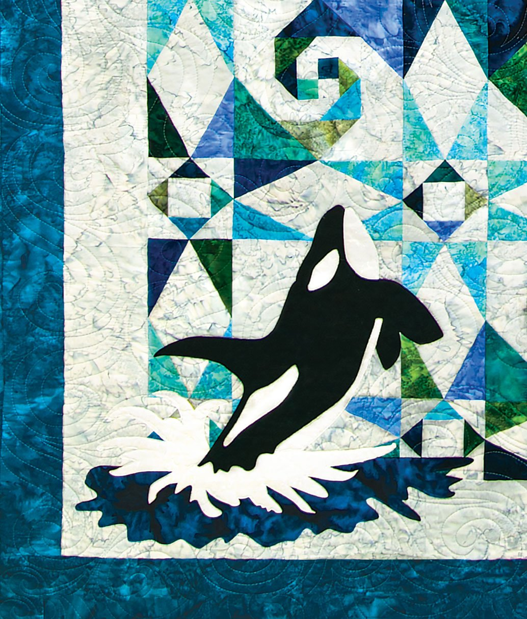 Orca at Sea Pre-Cut Laser Applique Set