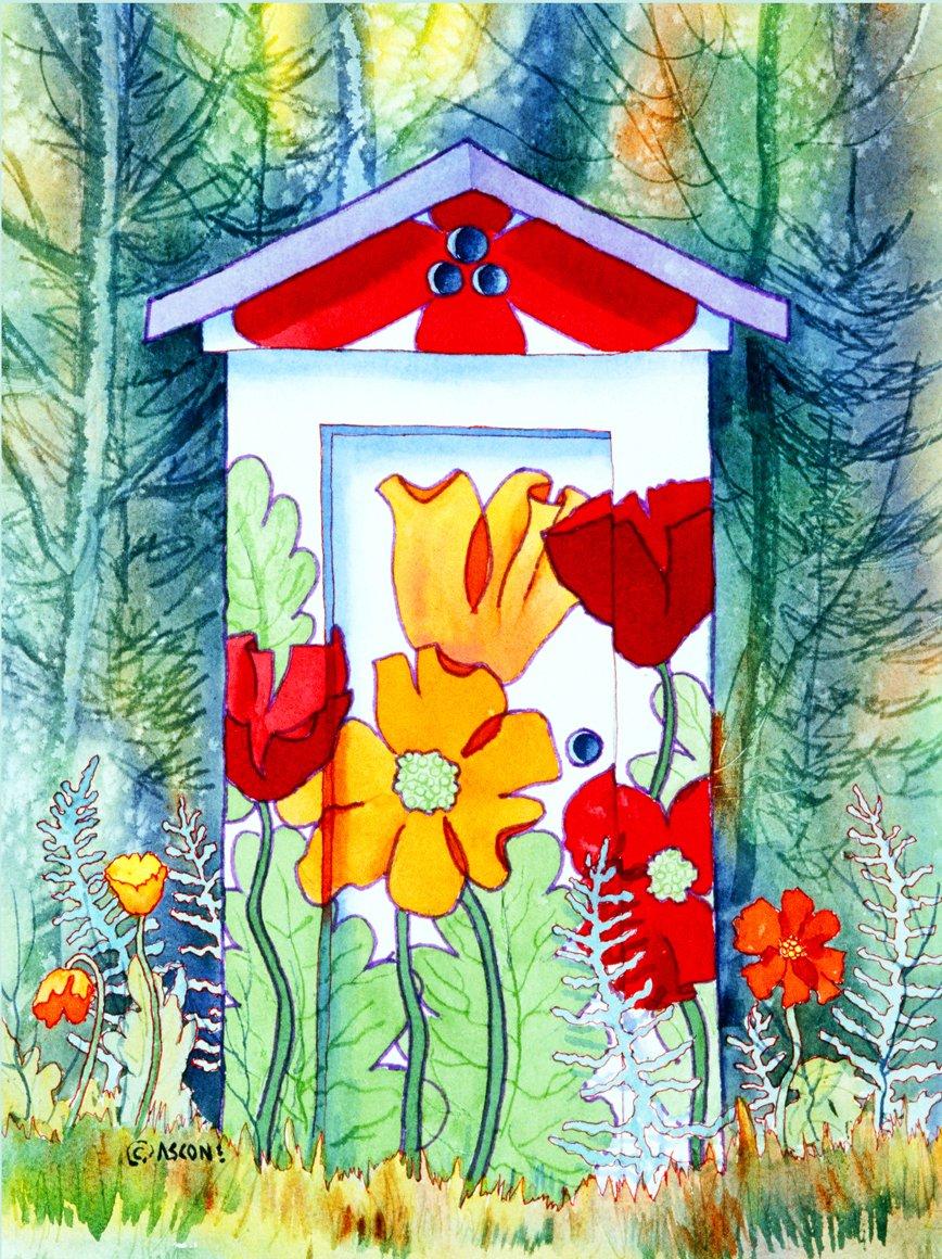Poppy Potty Fabric Panel by Teresa Ascone