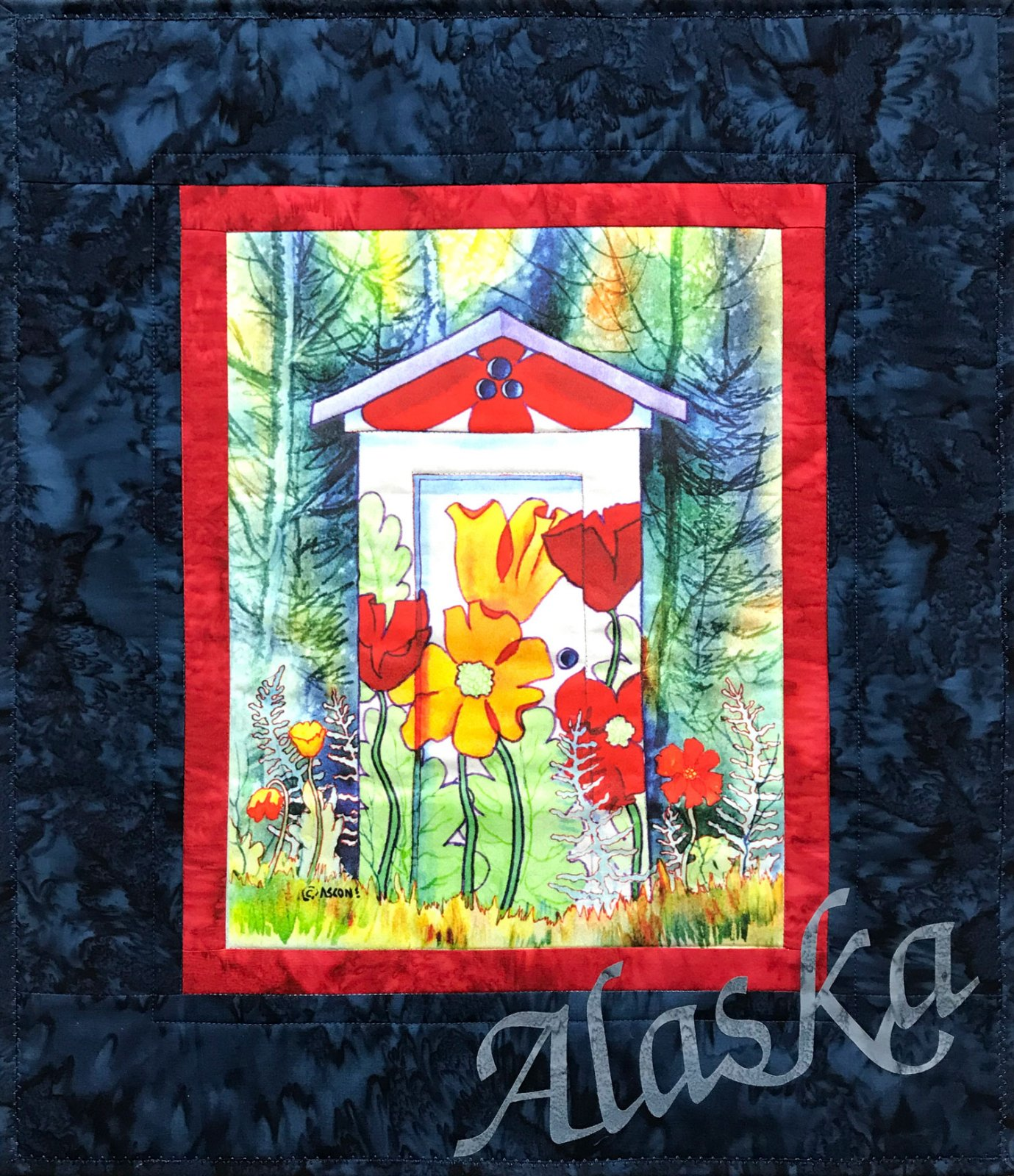 Poppy Potty Fabric Art Quilt Kit