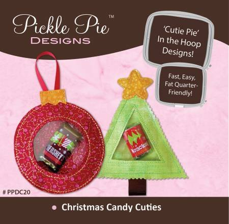 Christmas Candy Cuties In The Hoop Machine Embroidery CD