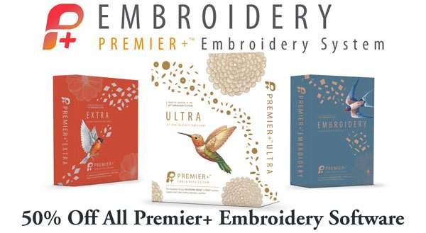 Premier+ Embroidery Software