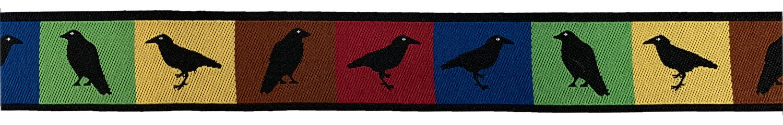 7/8 Woven Trim AK Autumn Ravens