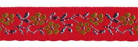 3/4 Met/Poly Jacquard Red/Gold/Silver