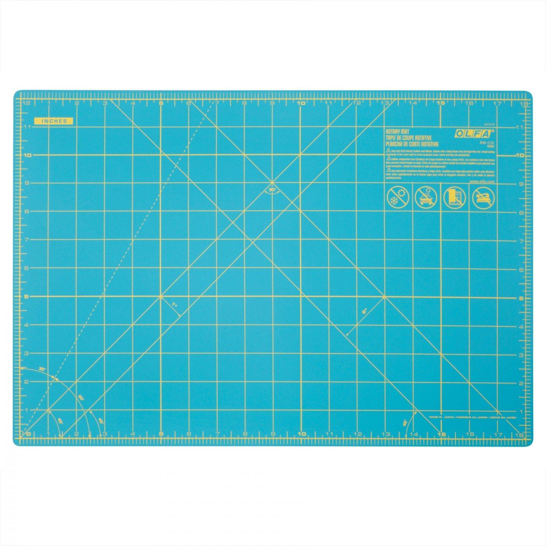 Olfa Cutting Mat with Grid 12 x 18 Aqua