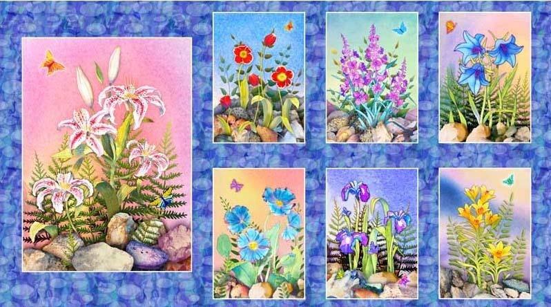 Rock Garden by Teresa Ascone 251-PA Panel
