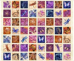 Flora Luna 27836-E Cream Floral Patches Panel