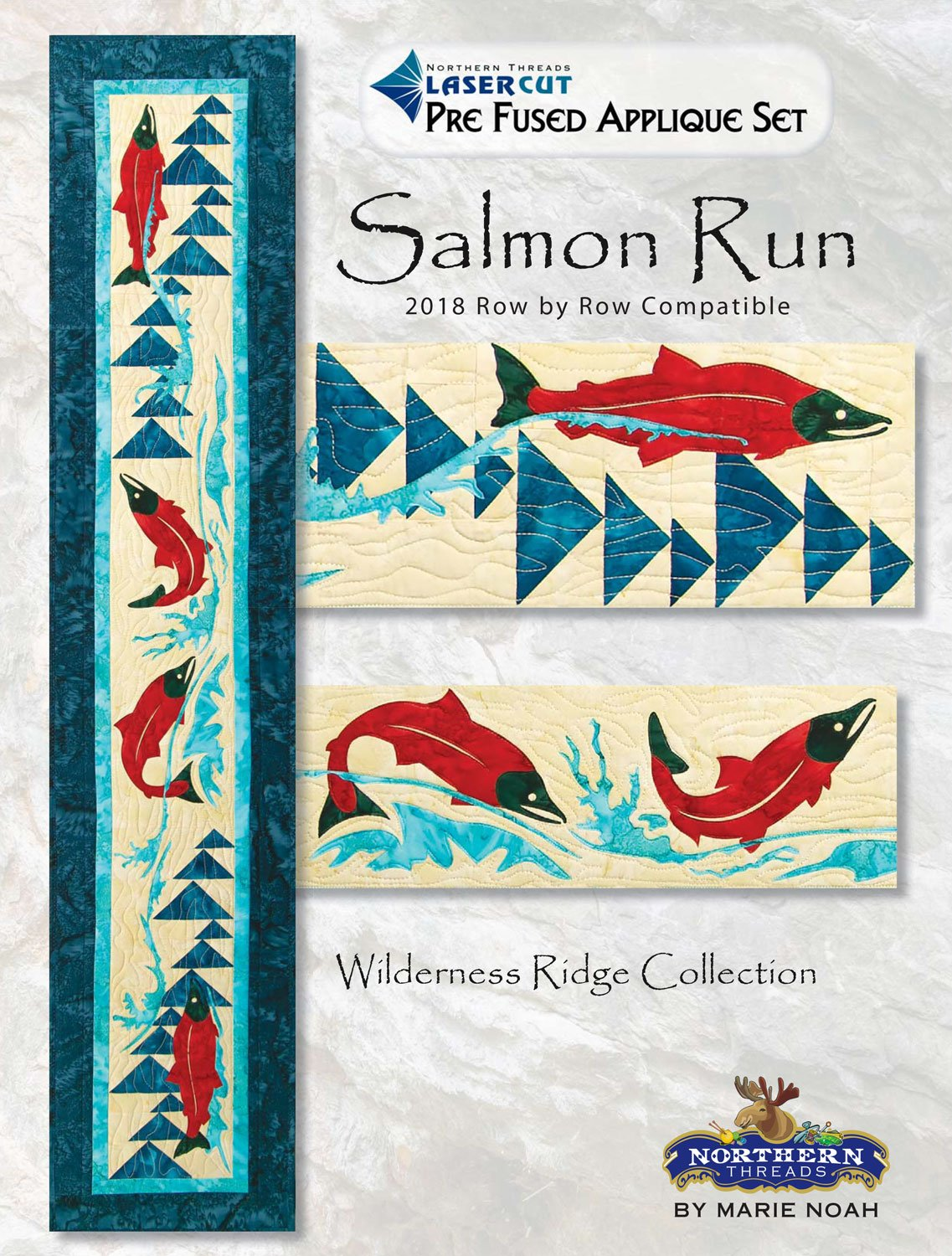 Salmon Run Wilderness Ridge Applique Set