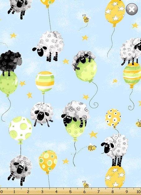 Mayfair Lewe's Balloons and Sheep Allover Print