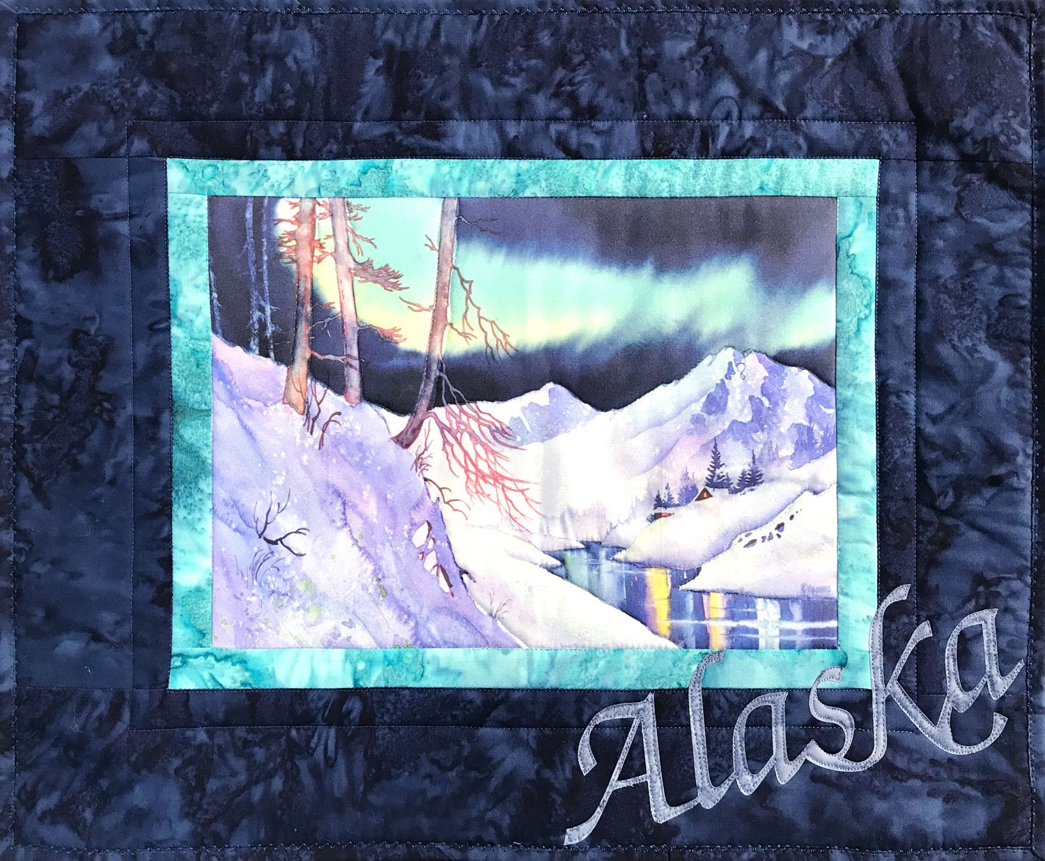 Ski Trail Fabric Art Quilt Kit