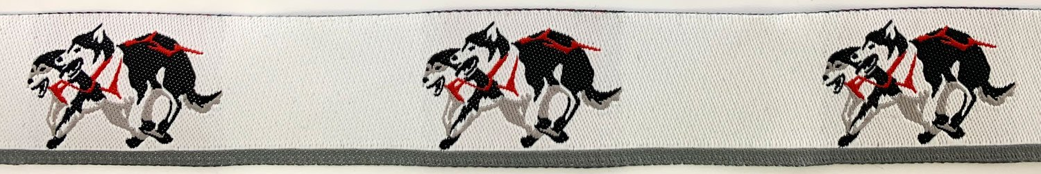 7/8 Woven Trim Sled Dogs