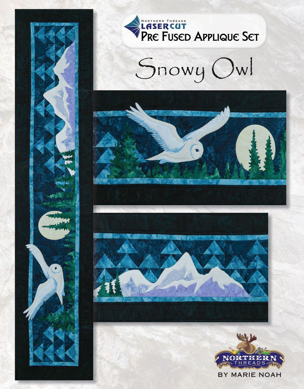 Snowy Owl Applique Set