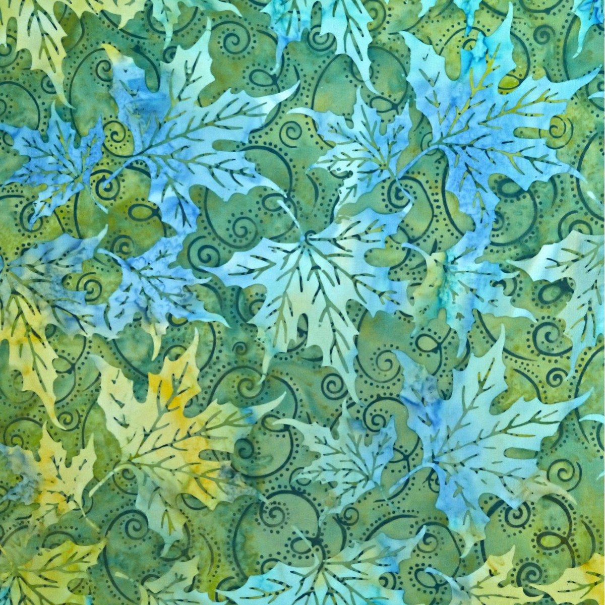 Batik by Mirah Silver Sage SS-4-1536 Lemon Basil