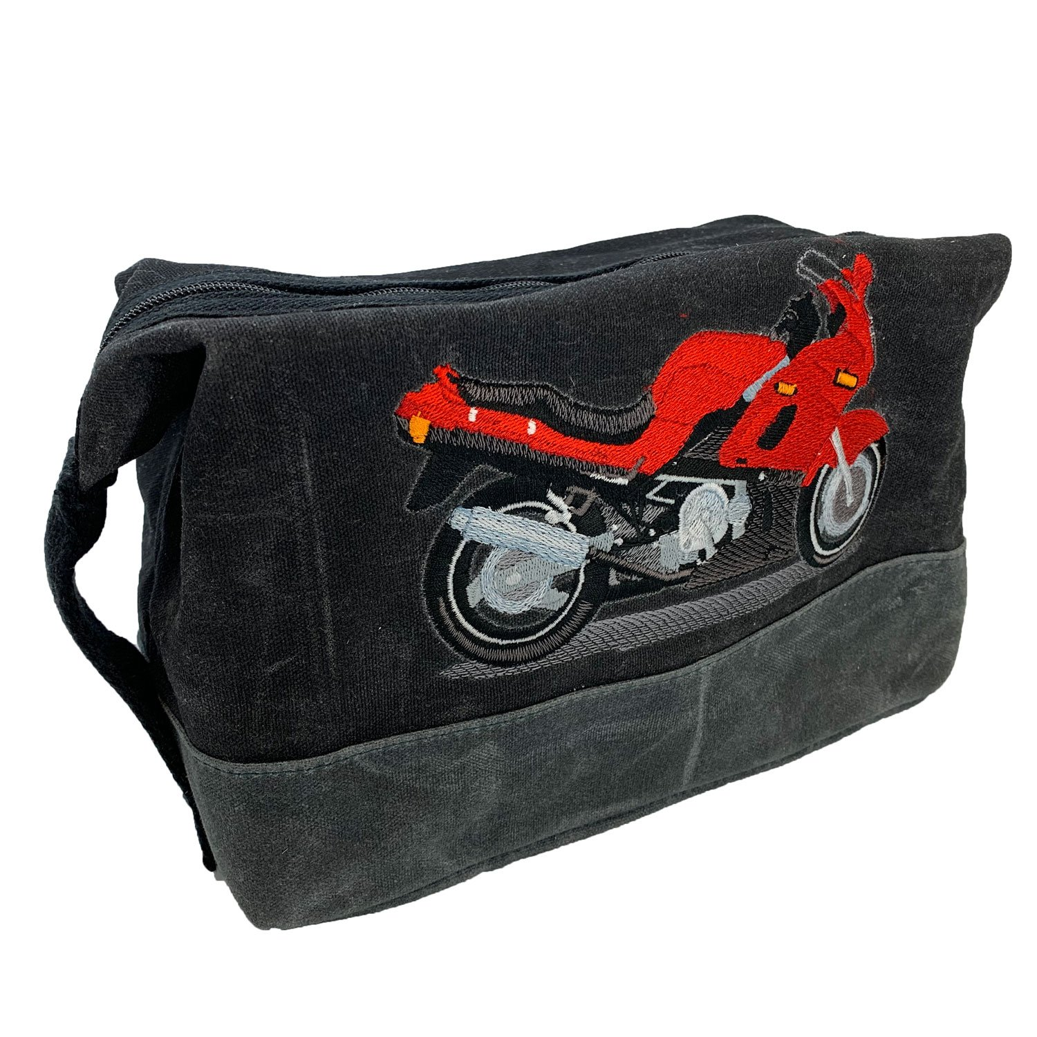 Embroidered Waxed Canvas Street Motorcycle