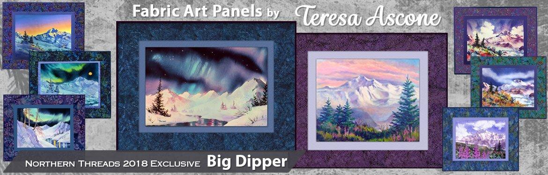Fabric Art Panels by Teresa Ascone