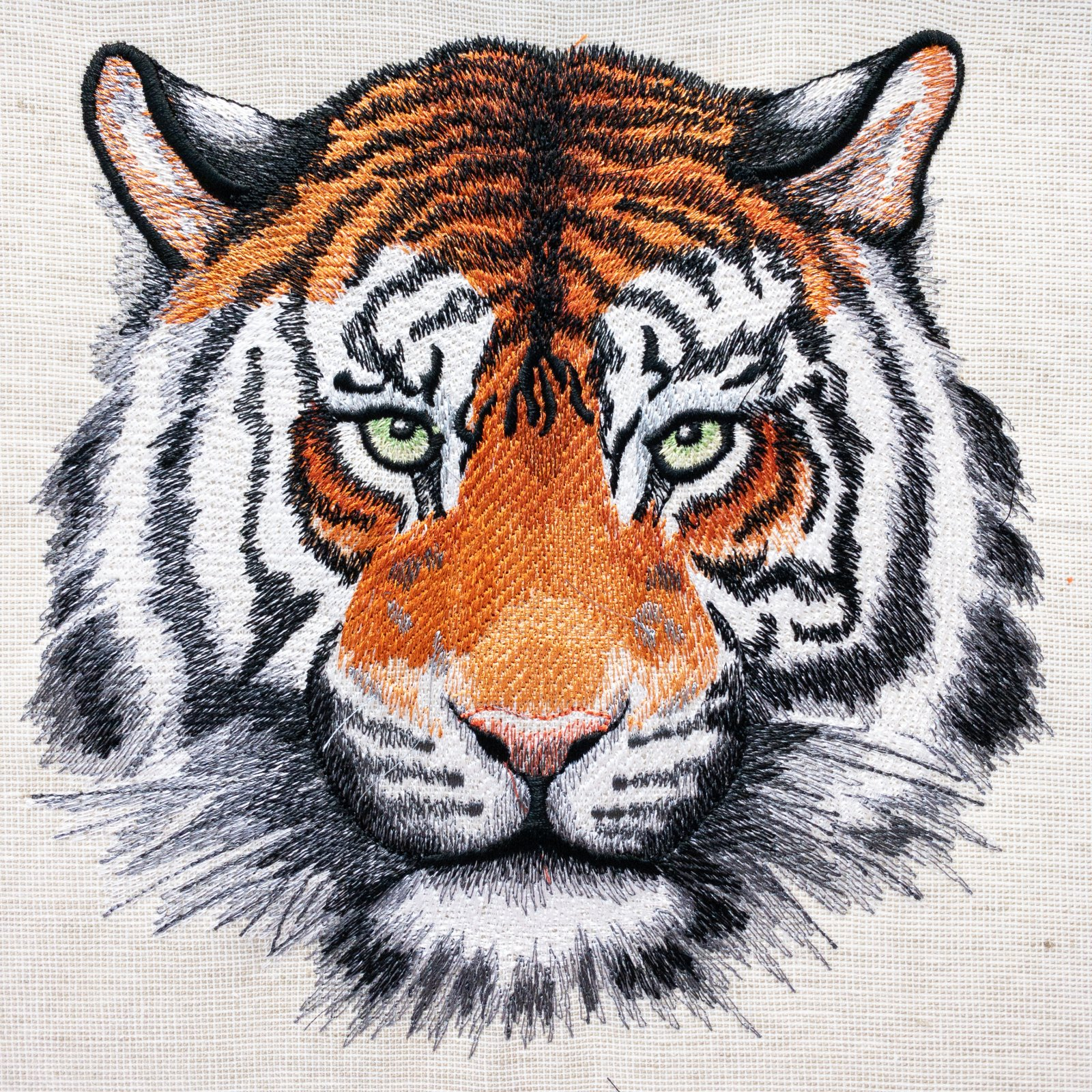 Tiger Embroidered Panel