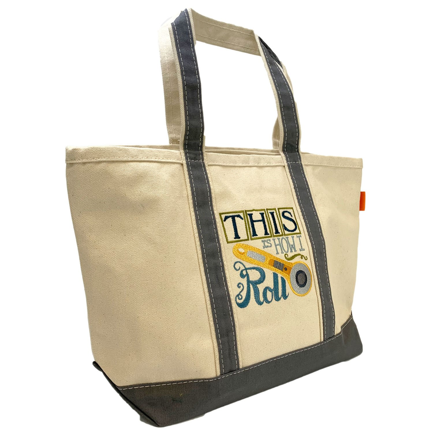 Embroidered Canvas Tote Rotary Cutter