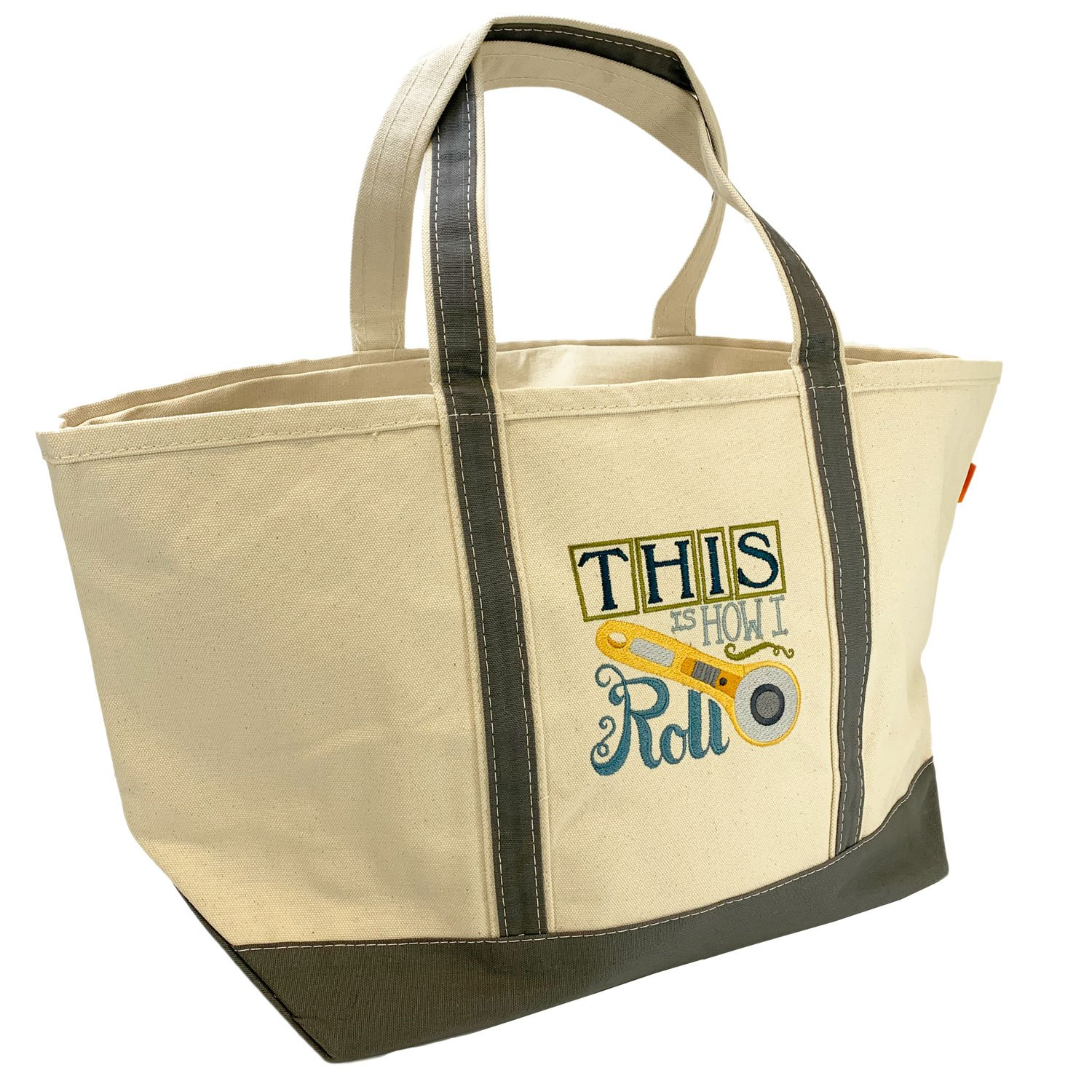 Embroidered Canvas Tote Large Rotary Cutter