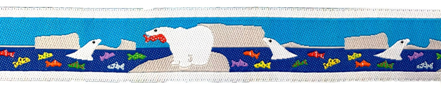 7/8 Woven Trim Polar Bear Fishing