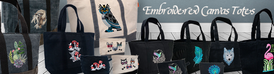Embroidered Totes & Pouches