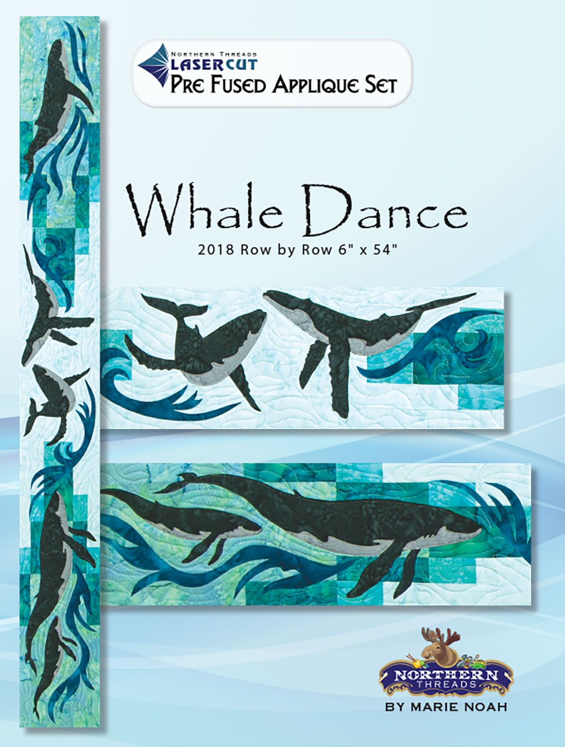 Whale Dance Applique Set Row by Row 2018