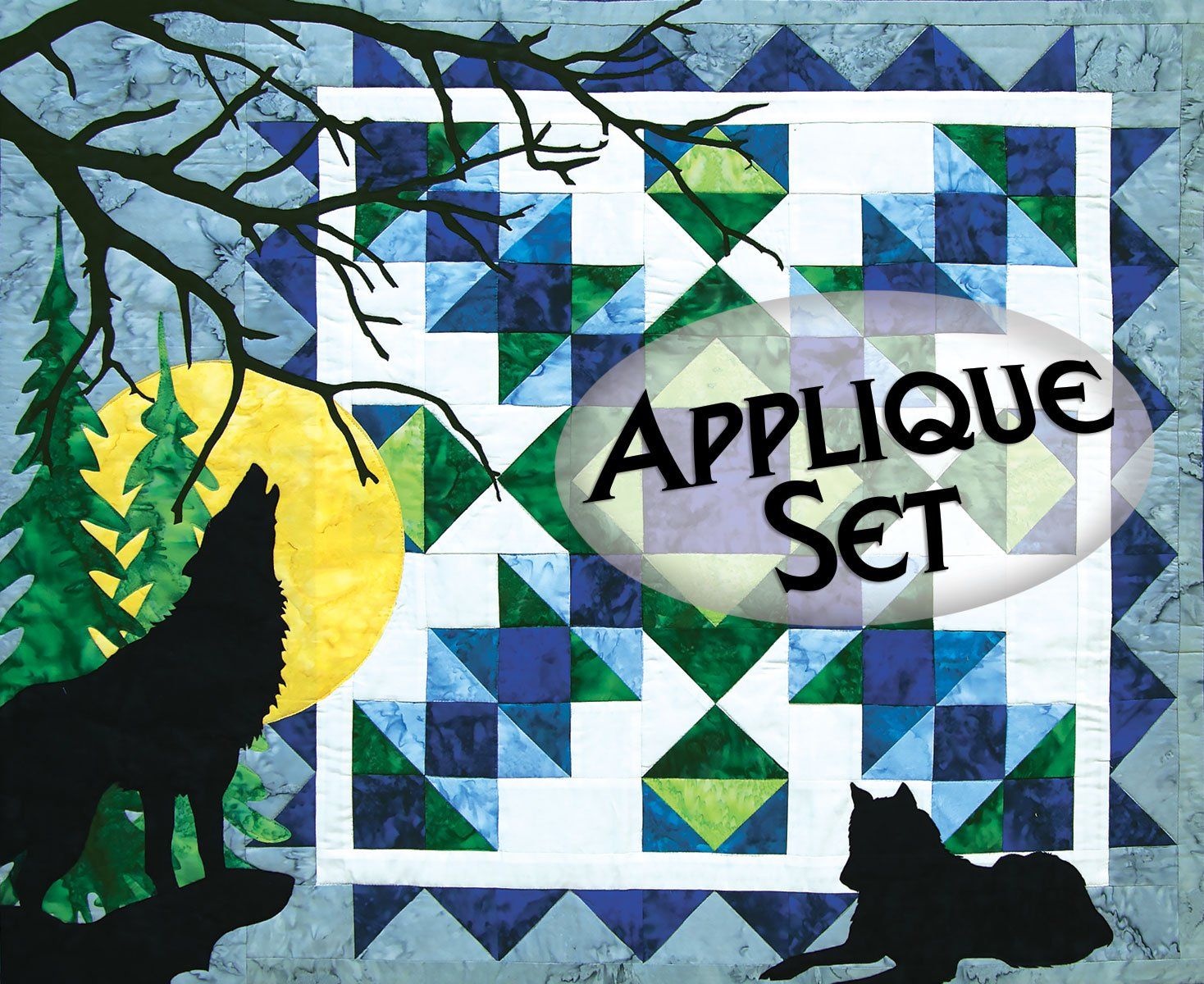 Wolf Song Pre-Cut Laser Applique Set